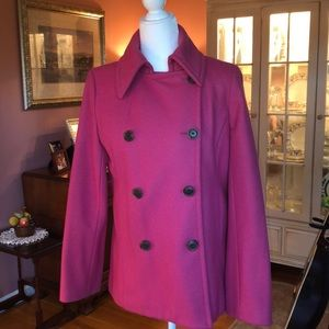 J. Crew Pink Peacoat with Thinsulate